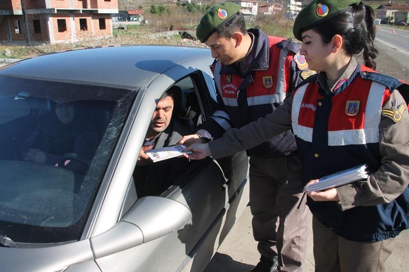 Jandarmadan sürücülere sürpriz uygulama