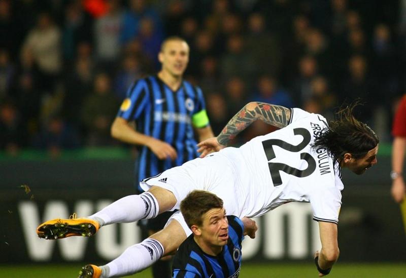 Club Brugge - Beşiktaş maçından kareler