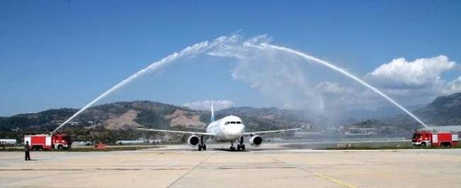İran'dan ilk kafile Gazipaşa- Alanya Havalimanı'na indi