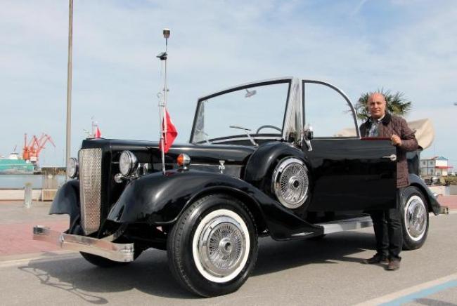 Samsunlu Enver usta, Atatürk'ün makam aracına benzer otomobil yaptı
