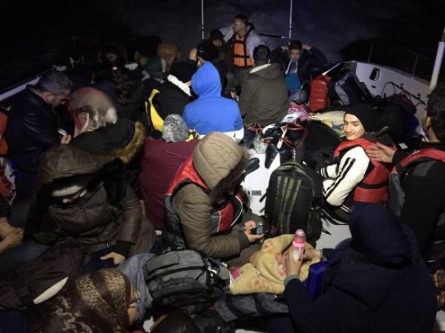 Kaş'ta Suriyeli kaçaklar yakalandı