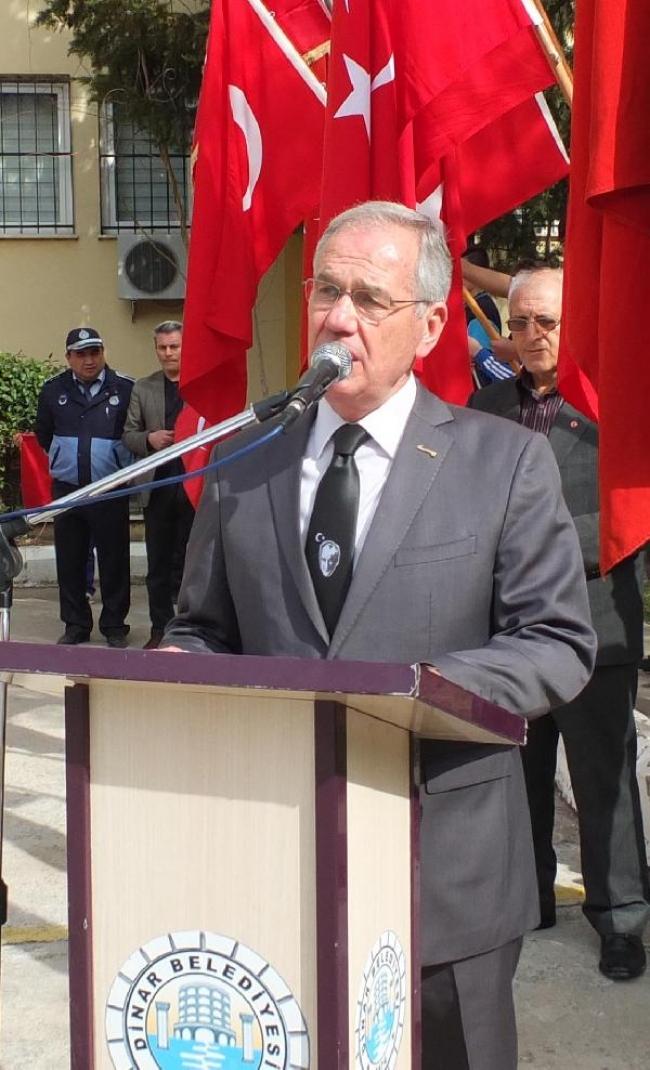 Atatürk'ün Dinar'a gelişi kutlandı