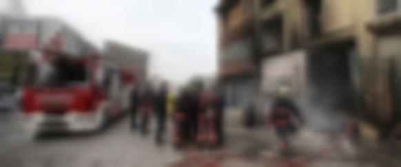 Ankara'da sanayi sitesinde yangın