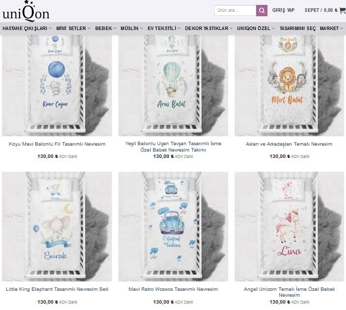 Bebeklerinize Özel Ürünler Uniqon'da