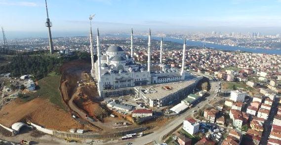 Çamlıca Camisi inşaatı bitiyor