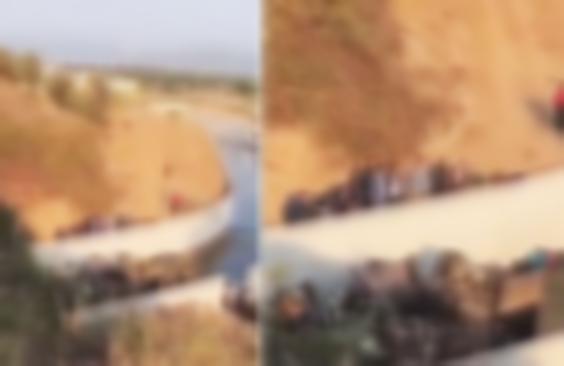İzmir'de sığınmacıları taşıyan kamyon devrildi