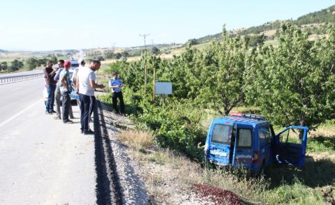 Karaman'da jandarmaya ait askeri araç kaza yaptı
