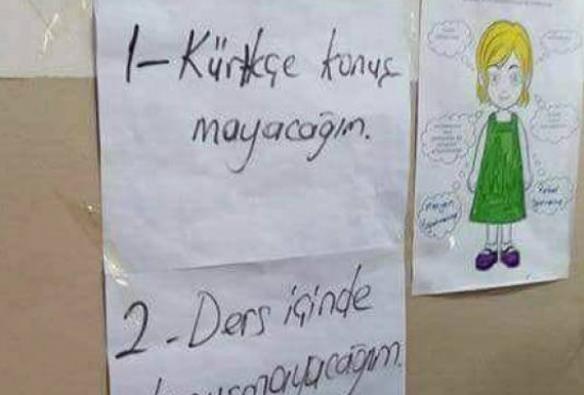 Kürtçe yasağı getirildi