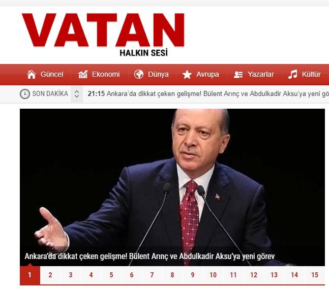 Son Dakika Haberler Yeni Vatan Gazetesi