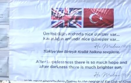 Türkiye'den İngiltere'ye yardım