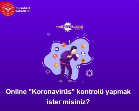Koronavirüs kontrolü için internet sitesi