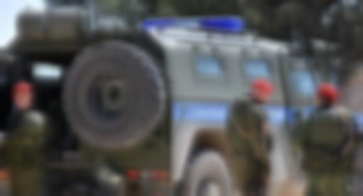 Rus askeri polisi, Menbiç'te devriye