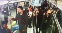 Metrodaki bomba şakası kameralara yansıdı.