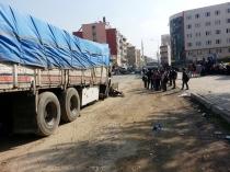 Cizre'de yük dolu kamyon TIR'a çarptı: 1 yaralı