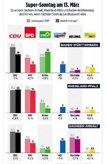 Almanya'da göçmen karşıtı AfD partisi yüzde 20 sınırında.