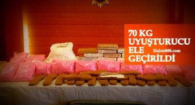 70 kilogram uyuşturucu yakalandı