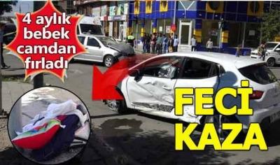 Araç camından fırlayan bebek yaşamını yitirdi