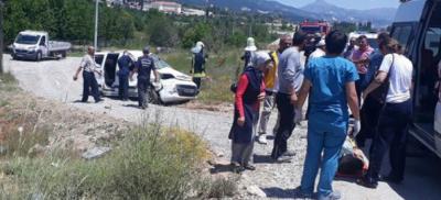 Denizli ilinde feci trafik kazası oldu