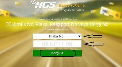 HGS Yükleme işlemi