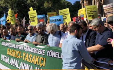 İstanbul'daki Suriyeliler eyleminde arbede