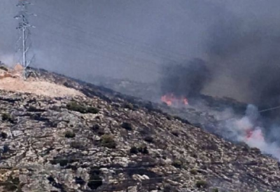 İzmir'de makilik alanda yangın başladı