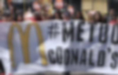 McDonald's çalışanlarından protesto