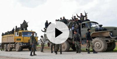 Suriye rejim güçleri Saraqeb şehrine ilerliyor