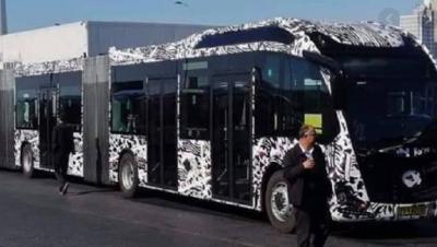 Yeni metrobüsler test sürüşüne